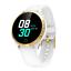 Senora-dorado-Bluetooth-reloj-redondo-display-Android-iOS-Samsung-iPhone-ip68-LG miniatura 10