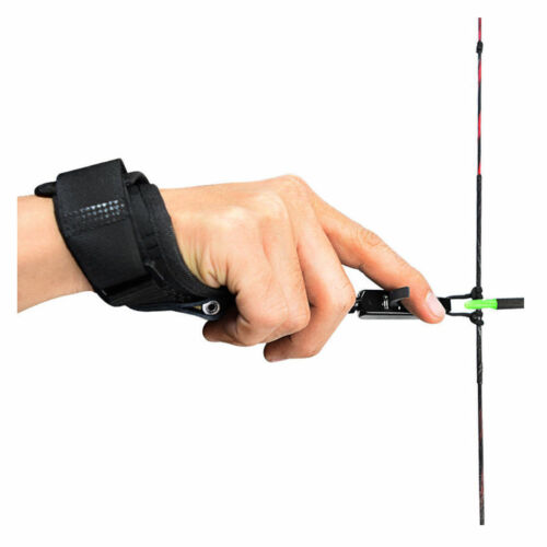 Rotatable Adult//Youth Thumb Archery Caliper Release Aid W//Strap for Compound Bow