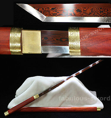 39' RED FOLDED  STEEL RED FULL TANG ROSEWOOD HAND MADE JAPANESE SWORD VERY SHARP