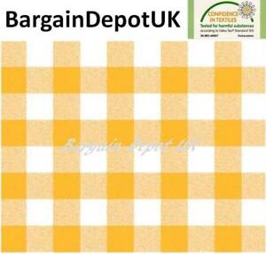 Merveilleux Image Is Loading Yellow Gingham Check PVC Wipe Clean Vinyl Tablecloth