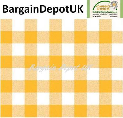 ALL SIZES F107-1 Red Gingham Check PVC Vinyl Wipe Clean Tablecloth Code