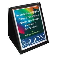 Lion Office Products Display Book Vertical Easel 8-1/2x11 Black 39009
