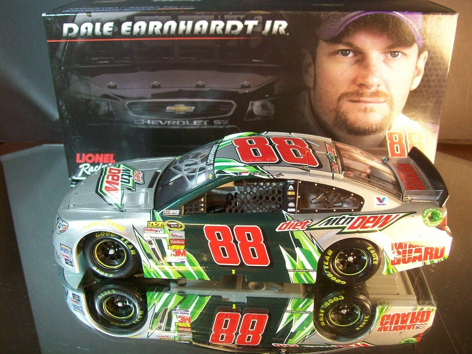 Dale Earnhardt Jr  88 Diet Mountain Dew AUTOGRAPHED 2014 Chevrolet SS 1 24