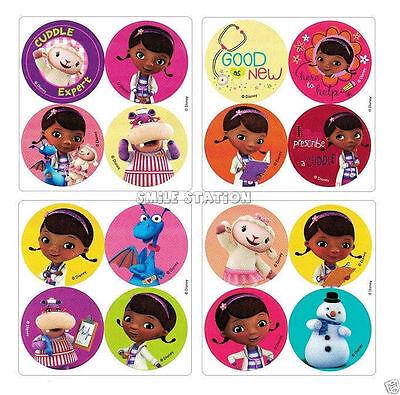 48 Doc McStuffins Dot Stickers Kid Reward Party Goody Bag Filler Favor Supply