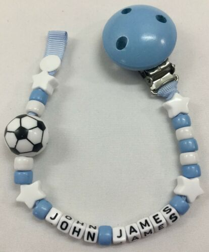 **BUY 2 GET 1 FREE ⚽Personalised DUMMY CLIP ⚽12 Letter ⚽ FOOTBALL ⚽ 14 Colours ⚽