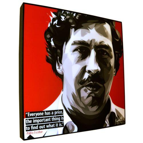 Pablo Escobar Pop Art Picture Keetatat Sittiket Acryl