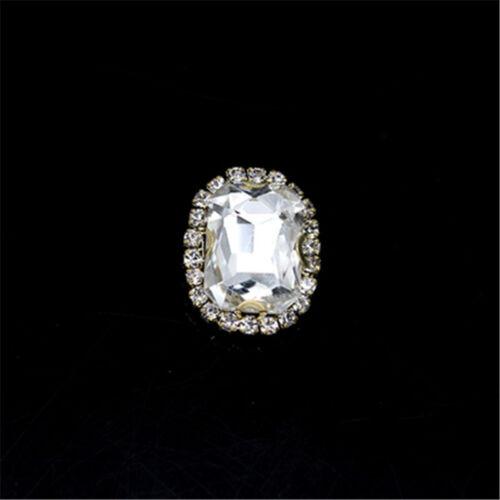 10 un 18x25mm cose en Rhinestone Rectángulo Cabujón Cristal Hágalo usted mismo vestido Bling