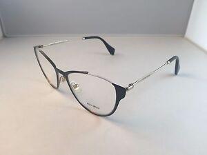 1fc6d759244 New Authentic Miu Miu VMU 51O eyeglasses QE3 1O1 Black and Gold w ...
