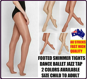 FOOTED-SHIMMER-TIGHTS-TIGHT-DANCE-STOCKINGS-BALLET-JAZZ-TAP-SIZE-CHILD-TO-ADULT
