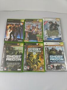 Xbox-Original-Lot-Of-6-Including-Ghost-Recon-Medal-Of-Honor-And-Others-Used