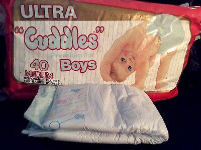 """Vintage Ultra """"cuddles"""" Plástico Respaldo Pañal Para Niños Talla Mediana Reborn Diapering"""