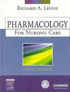 pharmacology for nursing care by richard a lehne 2006 hardcover rh ebay com