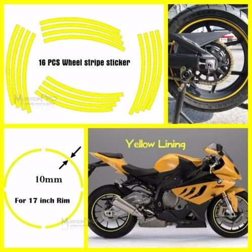 "UNIVERSAL 17/"" INCH Motorbike WHEEL RIM STRIPE FIT MOTORCYCLE CAR STICKER DECAL"