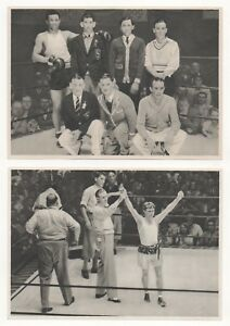 1932-OLYMPICS-EIGHT-BOXING-PAPER-PICTURE-CARDS-IN-GERMAN