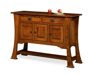 Image Is Loading Amish Rustic Dining Room Sideboard Server Buffet Cambridge