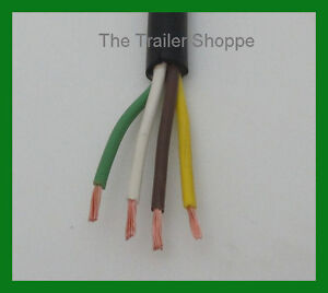 Details about Trailer Light Cable Wiring Harness 14-4 14 Gauge 4 Wire on