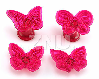 4x Cake Fondant Decorating Sugarcraft Cookie Cutters Mold Butterfly Shape Mould