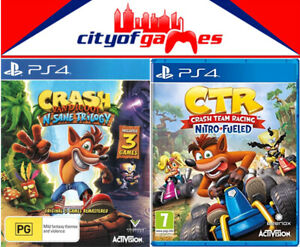 Crash Bandicoot Nsane Trilogy Ctr Crash Team Racing Nitro Fueled Ps4 Bundle Ebay