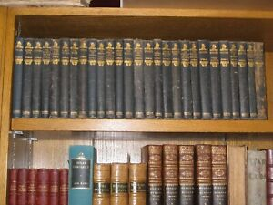 LEATHER-Set-Works-of-JOSEPH-CONRAD-COMPLETE-27-VOLUMES-1921-1926-RARE-gift