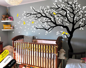 large tree wall decal baby nursery wall art mural wall tattoo decor