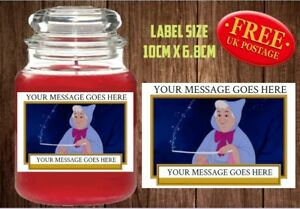 Details About Personalised Fairy Godmother Candle Labelsticker Perfect Birthday Gift Idea