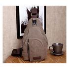 Vintage Hombre Lona Deporte Viaje Bolsa Satchel Bandolera Ajustable Mochila Bag