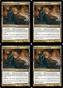 4x-UNDERWORLD-COINSMITH-Journey-into-Nyx-MTG-Gold-Creature-Human-Cleric-Unc