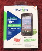 Tracfone - Lg Lucky - Android Prepaid Smartphone - Brand New>free Shipping