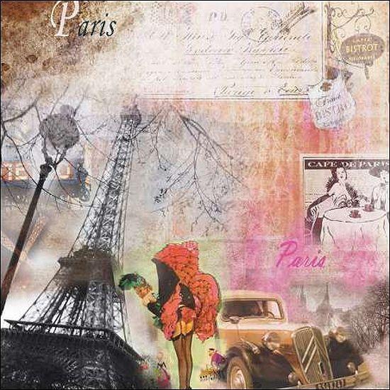 Braun Studio  Paris Folies II Keilrahmen-Bild Leinwand Collage Monumente Kult