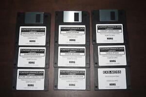 Details about Korg EXB Complete Collection DIsk Set - PRELOAD Data Floppy  Disk - 9 Disk Set