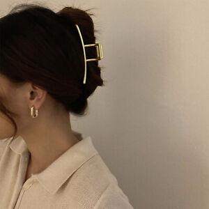 Korea-Hair-Accessories-Vintage-Matte-Glossy-Metal-Hair-Claws-Hair-Clips-Barrette