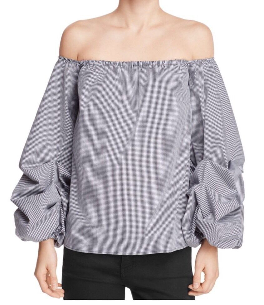 PETERSYN Hannah Off-The-Shoulder Top  New M