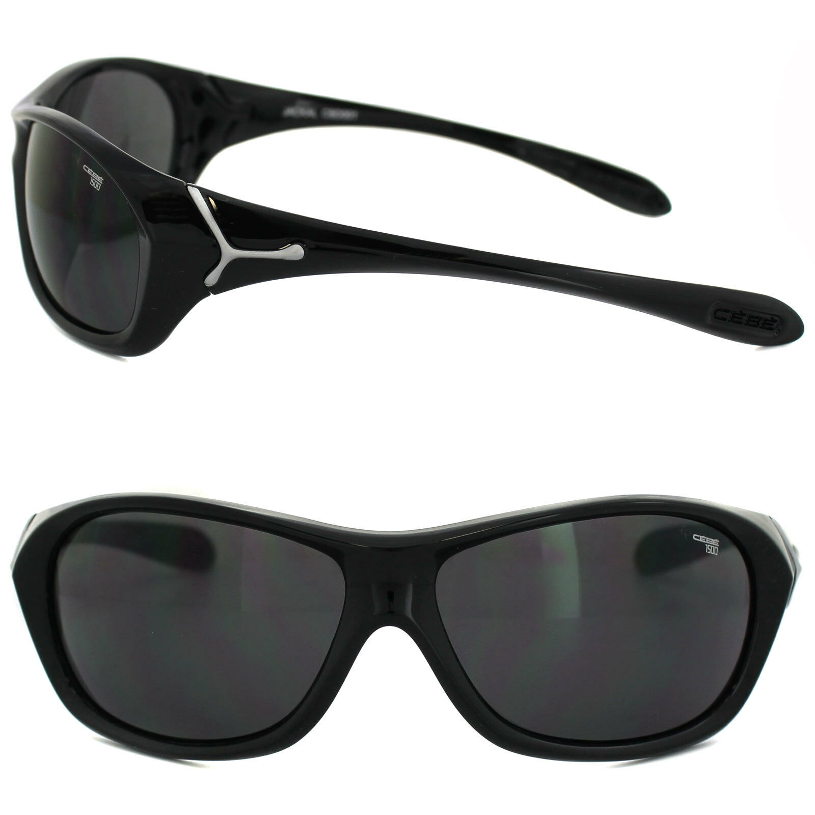 950cfe55c6410d CEBE Sunglasses Jackal 1500 Black Grey Cat 3 CBD001   eBay