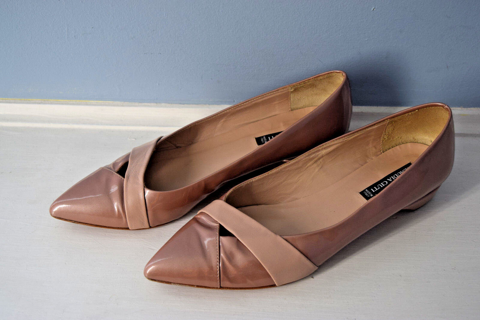Claudia Ciuti Leather Italy Mauve Pink Patent Leather Ciuti Ballet Flat 7.5 M Excellent Career 58a37a
