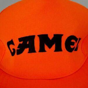 56284b87d Vintage Camel spell out Hunter Orange Snapback Hat Cap | eBay