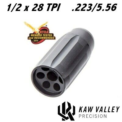 3.25-Inch Long Kaw Valley Precision KVP 5.56//223 Magnum Linear Comp 1//2x28 TPI