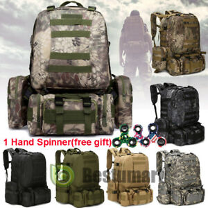 830110d437 Image is loading 55L-Molle-Outdoor-Military-Tactical-Bag-Camping-Hiking-