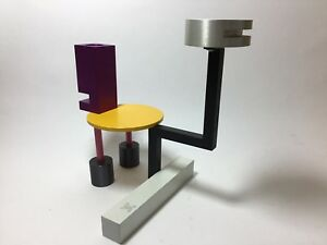 Double Candle Holder by MEMPHIS Designer Peter Shire One-of-a-Kind