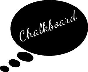Image Is Loading Round Thought Bubble Chalkboard Stick On Chalk Board