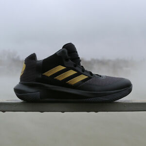 adidas black and gold basketball shoes