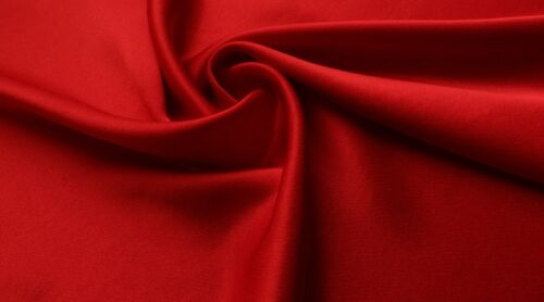 RED COLOUR VISCOSE SATIN FABRIC LUXURY SATIN