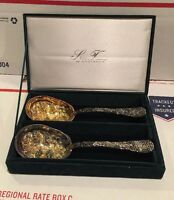 Godinger Silver Treasures Silverplate Two 9 Spoons Server Set