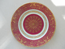 Antique Rosenthal Dinner Charger Plates   Set of 6   Raspberry with Raised Gold