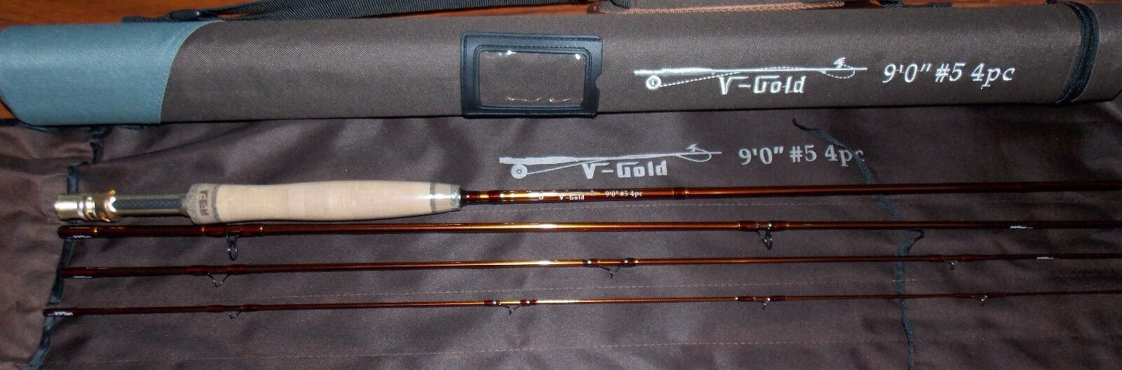 5WT Fly Fishing Rod 9FT 4Piece Graphite IM12 &Cordura Tube FREE 3 DAY DELIERY