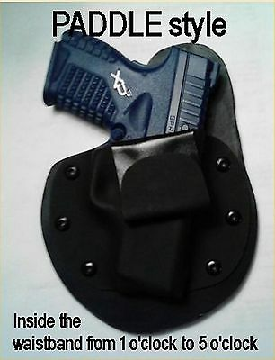LEFT Hand PADDLE STYLE IWB leather kydex Conceal carry all models MTO Holster