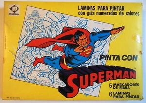 Superman Colorforms Set - Pinta Con Dc des années 1970 non ouvert Argentine Mib