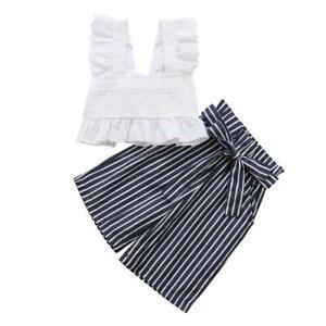 2pcs-Cute-Kids-Girls-Clothes-Set-Lace-Crop-Tops-Waist-Knot-Wide-Leg-Pants-1-6Y