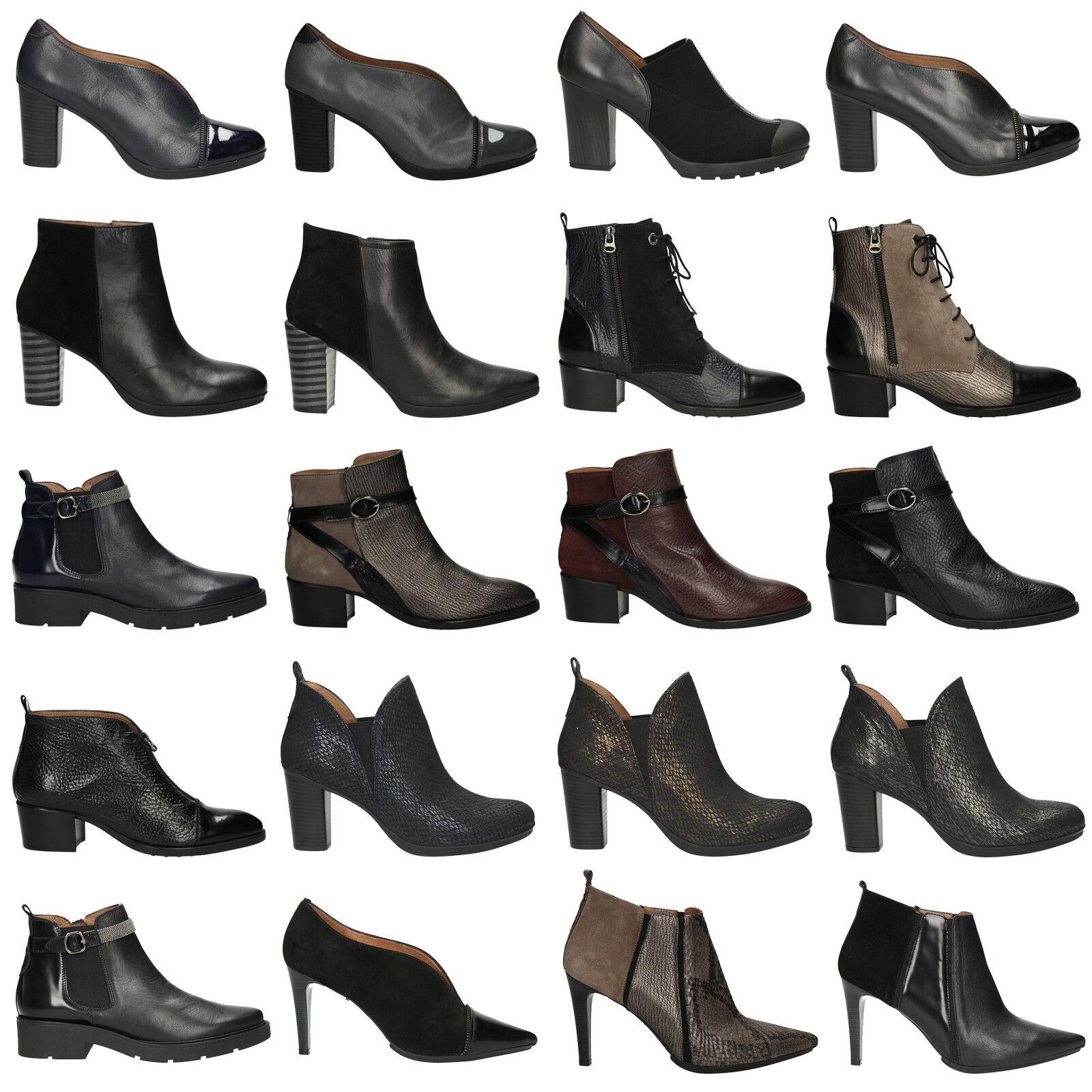 Hispanitas zapatos señora botines de cuero invierno elegante cremallera