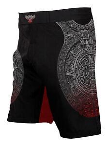 Raven Fightwear Men's Aztec Ranked BJJ MMA Shorts Black