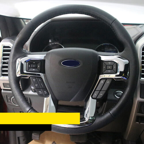 2015-2019 for Ford F150 F-150 ABS Interior Car Steering Wheel Button Cover Trim